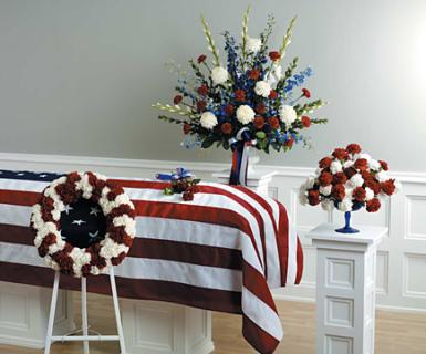 Casket Set Patriotic/CLICK FOR PRICE/ BUY SEPARATE