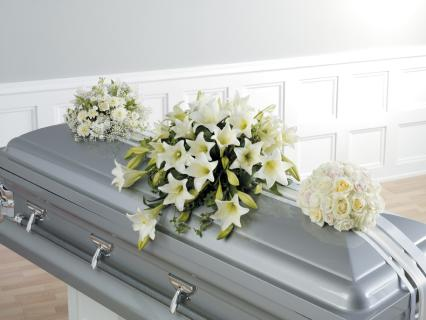 Casket Set/Lilly,Tulips,Stock,Rose/CLICK FOR PRICE/ BUY SEPARATE