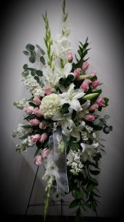 Standing Spray/Roses,Glads,Hydrangea,Stock,Lillies