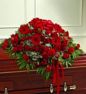 A Casket Spray/Carns,Roses,Gerbs