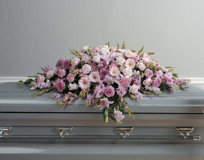 A Lavender Casket Spray/Roses,Stock,Glads,Gerbs