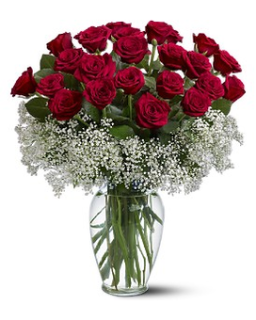 Love and Luxury bouquet/24 Roses,Baby breath
