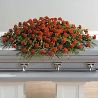 A Life Well Lived Full Casket Spray/Carnations in any color