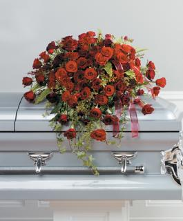 A Red Rose Casket Cover
