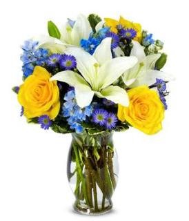 Bright Blue Bouquet/