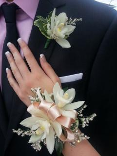 Orchid Corsage and Boutonniere/CLICK FOR PRICE/Color Optional