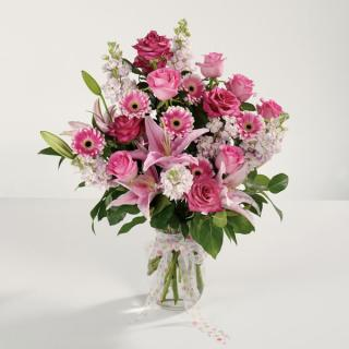 Power of Pink/Stock,Gerbs,Lillies,Roses