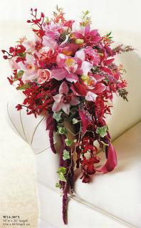Pink Profusion/Heather,Yarrow,Mini Calla,Rose,Orchid,Amaranthus