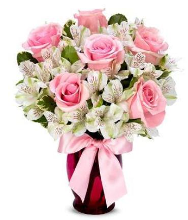 Pink And Pretty/6 Roses/Alstro