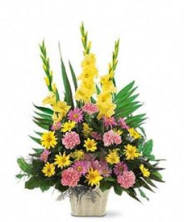 Funeral Basket/Glads,Carns,Daisy,Solidego