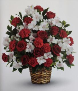 Love Basket/Roses,Carnations,Alstro