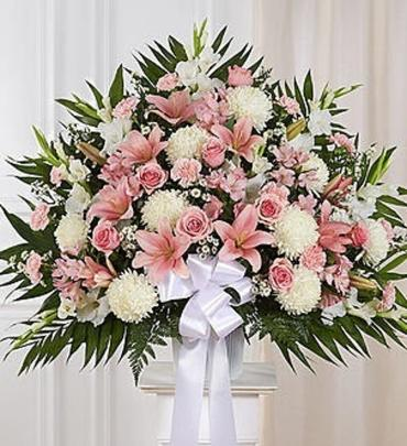 Funeral Basket/Carnations,Roses,Lilly,Football,Monte