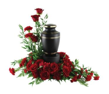 A Urn Arrangement/Roses,Carnations