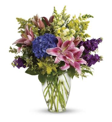 Everlasting/Hydrangea,Lilly,Snapdragons,Stock