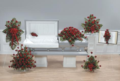 Casket Set/Red Rose/CLICK FOR PRICE/ BUY SEPARATE