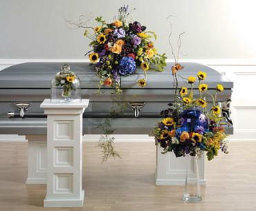 Casket Set/Hydrange,Stock,Sunflower/CLICK FOR PRICE/BUY SEPARATE