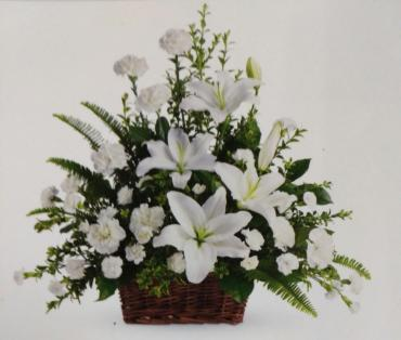 Peace Basket/Lillies,Carns