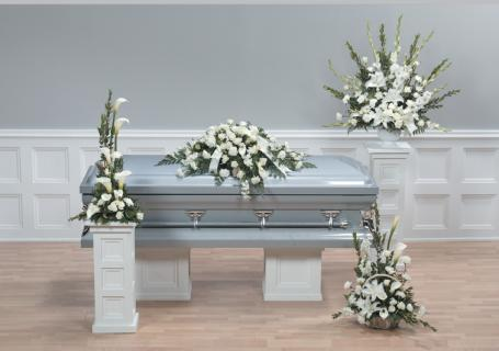 Casket Set/Lilly,Rose,Glad,Carn/CLICK FOR PRICE/ BUY SEPARATE