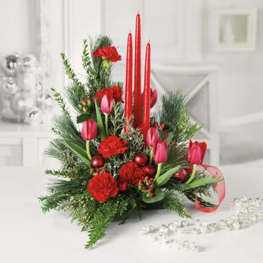 Santa\'s Surprise/Carnations,Tulips