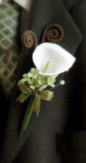Boutonniere/Calla Lily,Wax/Colors are Optional