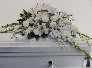Lilly White Casket/Lilly,Gladioli,Carns,Stock
