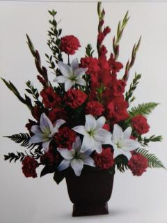 Garden Tribute/Lillies,Glads,Carns