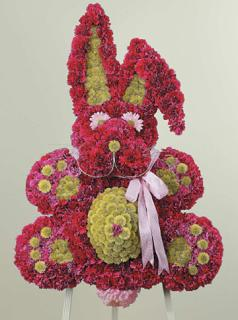 Pink & Green Bunny/Poms,Carns,Dasies
