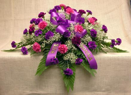 A Casket Spray/Carnations