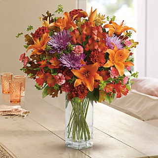 Fall Bright Bouquet/Lilly,Fuji,Alstro,Carns