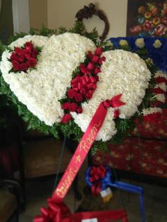 Double Heart/Roses,Carnations