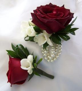 Corsage and Boutonniere/Rose,Freesia/CLICK FOR PRICE