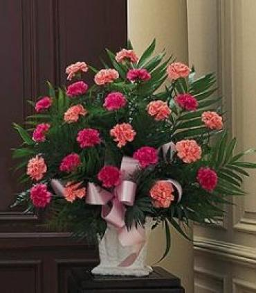 Funeral Basket/Carntions