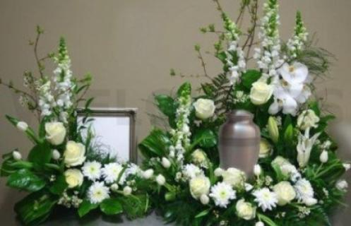 Urn Arrangement/Roses,Cushions,Snaps,Lily/Click for price