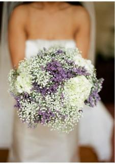 Passion Bouquet/Baby Breath,Limonium,Hydrangea
