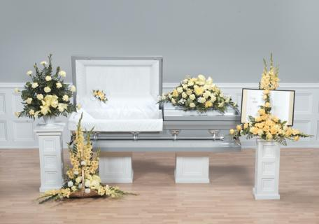 Casket Set/ Carnations/CLICK FOR PRICE/ BUY SEPARATE