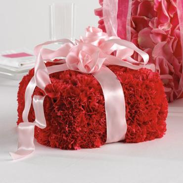 Carnation Gift Box Centerpiece