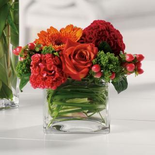 Dazzling Delight/Carnations,Gerbs,Hypericum,Roses