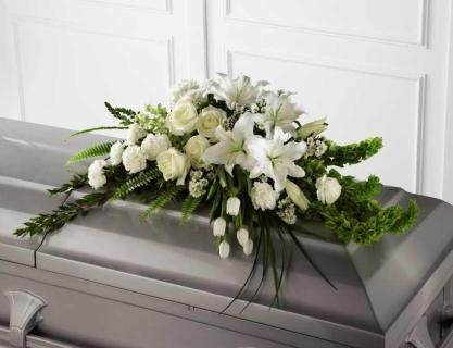 A Resurrection Casket Spray/Lily,Roses,Tulip,Bells,Monte