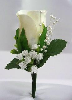 Boutonniere/Rose,Baby Breath