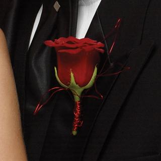 Boutonniere/Rose/Colors are Optional