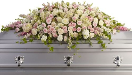 Always Adored/Hydrangea,Rose,Larkspur,Stock,Wax