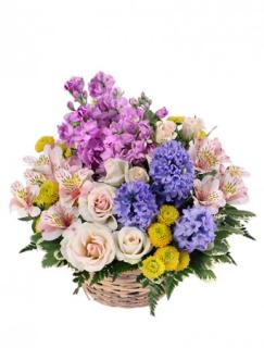 Fragrant Garden/Hyacinth,Stock,Alstro,Minni Roses,Buttons