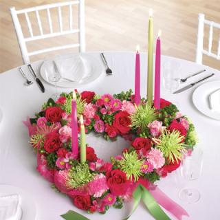 "Heart-Shaped Centerpiece/14"" Colors Optional"