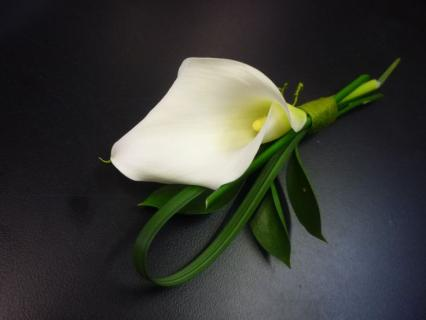 Boutonniere/Calla Lilly/Colors are Optional