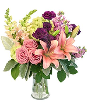 Lily AfterGlow/Lily,Roses,Lisianthus,Hydrangea,Stoci