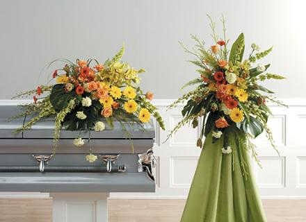 Casket Set/Gerb,Rose,Orchid,Bell/CLICK FOR PRICE/ BUY SEPARATE