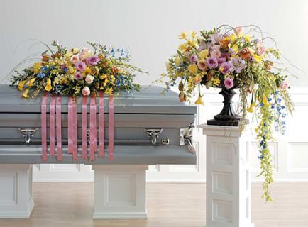 Casket Set /Rose,Delph,Freesia/ BUY SEPARATE/ CLICK FOR PRICE