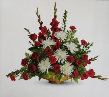 Strength Basket/Roses,Glads,Carns,Spider Mums