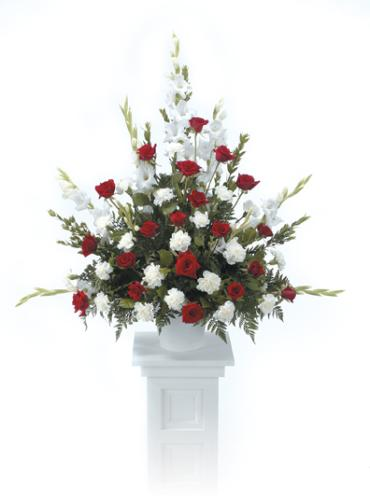 Classic Tribute Bouquet/Glads,Roses,Carns