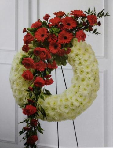 Forever Wreath/Gerbera,Roses,Carnations,Cushions